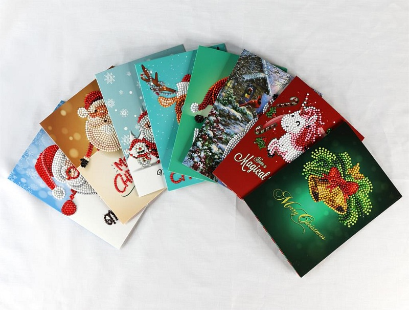 Postcards Christmas with buttons