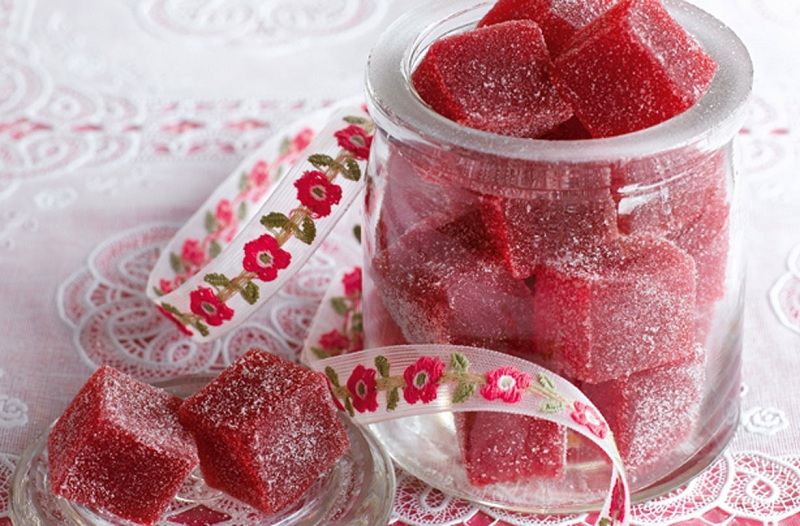 Jars with sweets for children
